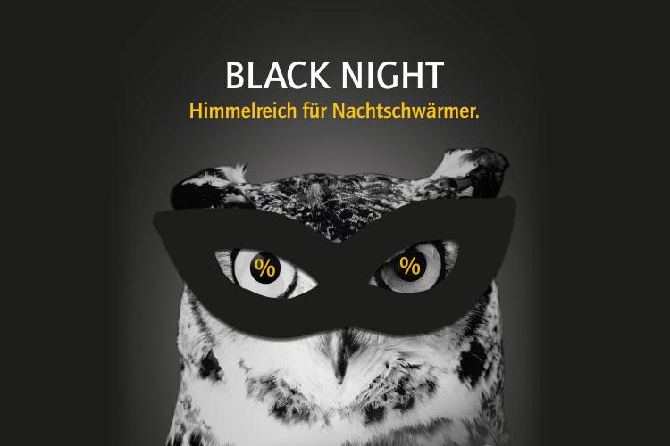 Black Night, Black Friday, shoppen bis 22 Uhr, lange Öffnungszeiten, Rheine Innenstadt