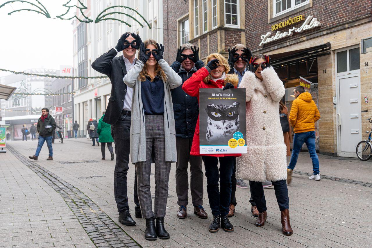 Black Night 29.11.2019 in Rheine, Black Friday, Shoppen bis 22 Uhr, lange Öffnungszeiten, Bus fahren, Shopping Night, Rheine