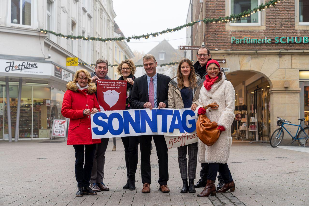 Nikolaussonntag, verkaufsoffen, verkaufsoffener Sonntag, Sonntag geöffnet, Shopping, Rheine, Weihnachtszeit, Weihnachtsgeschenke